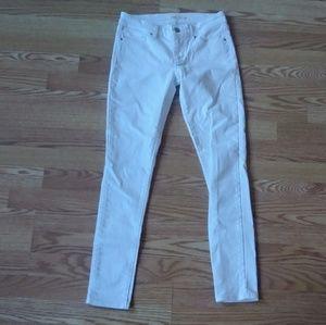 White Levi's 711 Skinny Jeans